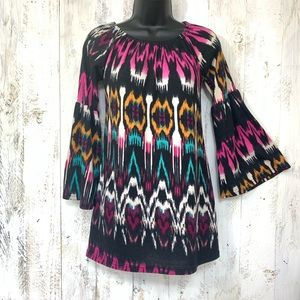 WinWin Multicolored Tunic S-M Flared Sleeves